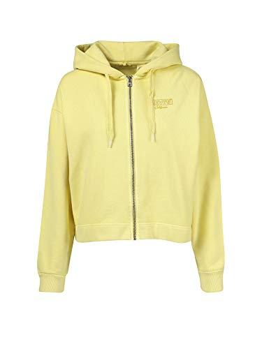 Levi's Graphic Zip Skate Hoodie 37717 0002 Sweat-shirt pour femme Jaune (S)