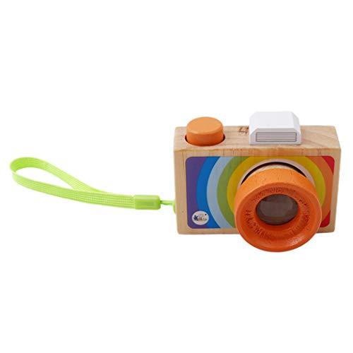XQWR Tragbares Mini-Holzkamera-Spielzeug Mit Multi-Prisma-Kaleidoskop Für Kinder Kleinkinder (Handheld)