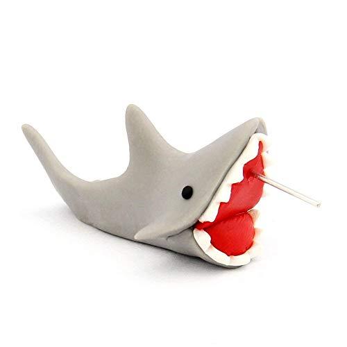Trifycore 1 par de tiburón pendiente de la forma artesanal de las mujeres arcilla del polímero animales Bastante 3D Pendiente Pendiente Chomper Piranha pendiente
