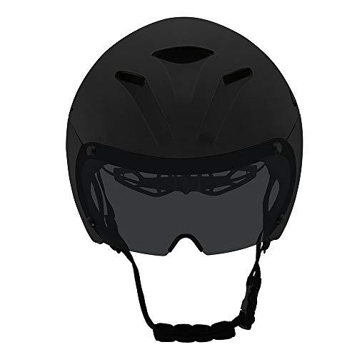 siqiwl Casco de Bicicleta Casco de Ciclismo magnético Gafas Casco de Bicicleta...