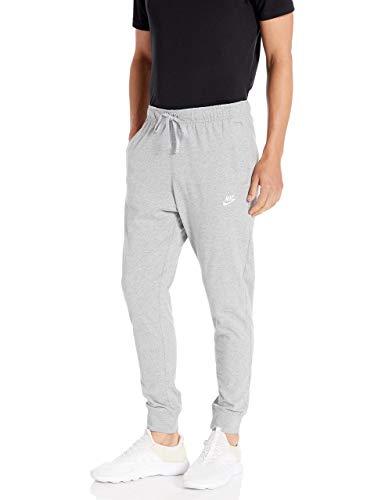 NIKE Men's Sportswear Club Jogger Pants, dk Grey Heather/(White), M