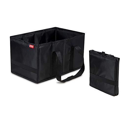 achilles Smart-Box Faltbare Einkaufs-Tasche Falt-Korb Klapp-Box Picknick-Korb Falt-Tasche Aufbewahrungs-Organizer Transport-Kiste Trage-Korb Schwarz 37 cm x 23 cm x 21 cm