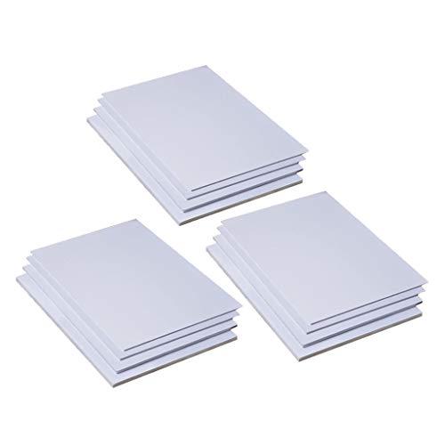 HomeDecTime 15 Stück PVC Platten Bastelplatte zum Modellbau