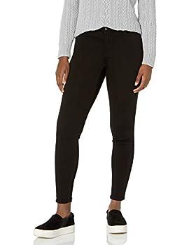 Amazon Essentials Women s Mid-Rise Skinny Jean Black 4 Short