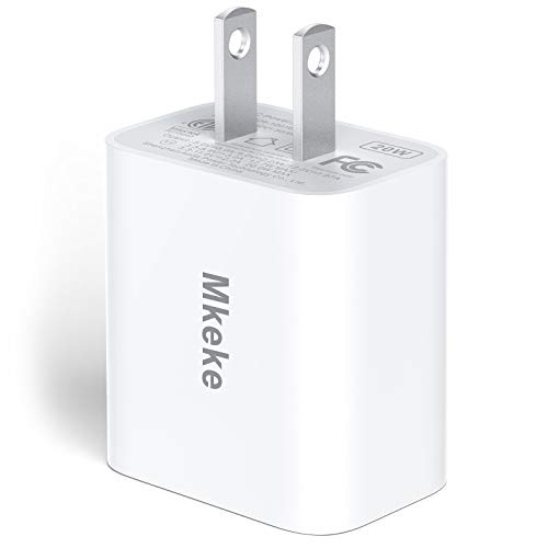Mkeke 20W Adapter for Apple iPhone 12 Charger Block/Apple Power Adapter for iPhone 12 Pro Max Charger Block/iPhone 11 Adaptor of USB Type C Charger/Samsung Galaxy/iPad (1 Pack)