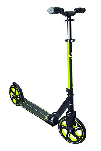 Muuwmi Aluminium Scooter PRO 215 mm, Unisex-Adult, Nero/Lime, One Size