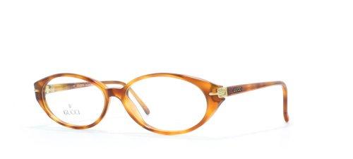 Gucci 2163 56 Damen Brillenfassung, quadratisch, zertifiziert, Vintage-Stil, Braun