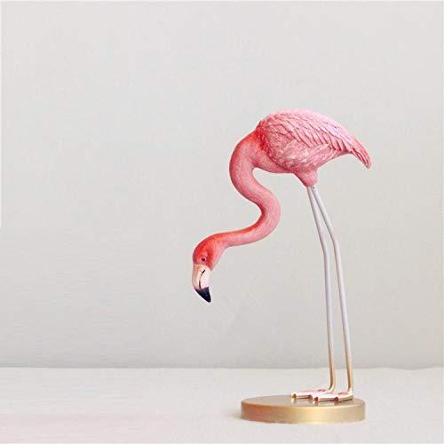 Niaofeces Statue Harz Flamingo Harz Ornamente Feine Handbemalte Süße Wohnzimmer Tv-Schrank Dekoration