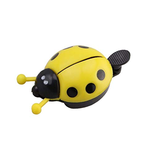 3 PCS Bicycle Bell Anning Beetle Dibujos Animados Ciclismo Bell Bell Kids Ladybug Bell Anillo para Bike Ride Horn Bicycle Accesorios Timbre para Bicicleta (Color : Yellow)