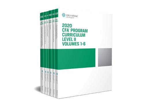 CFA Program Curriculum 2020 Level II Volumes 1-6 Box Set