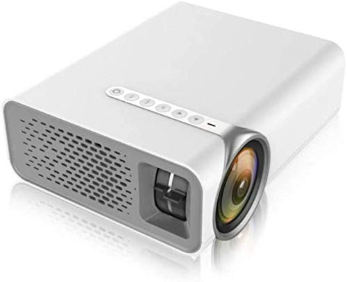 LINANNAN Full HD mini video projector, support external devices, no deviation focal length, multi-transparent lens, transmittance, suitable for home 4K viewing.