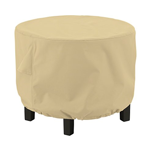 Classic Accessories,55-909-022001-EC, Terrazzo Water-Resistant 24 Inch Round Ottoman/Coffee Table Cover,,Small