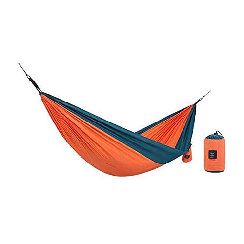 Hamaca para Camping Hammock Hamaca De Acampar Liviana Simple / Doble Hamaca Portátiles Portátiles Para Interiores Al Aire Libre Senderismo Camping Mochilero Viaje Playa De (Size:Soltero,Color:naranja)