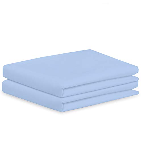 Clay Bedding 100% Egyptian Cotton Housewife Pillowcases- Pillowcases 100% Egyptian Cotton-Egyptian Cotton Pillowcases 2 Pack Pillowcases-(50X75Cm) Light Blue