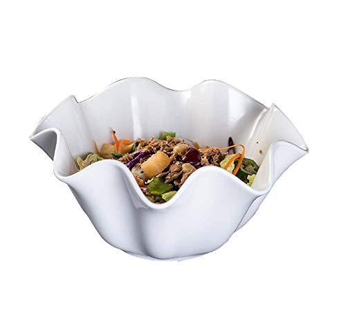 2 Pièces De Vaisselle En Céramique, Bol à Salade De Fruits Et Légumes/Bol à Provisions/Bol à Dessert, Cuisine De Service, Blanc (8.3 Po)