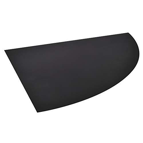 FIREFIX 1556/7 Stahlbodenplatte (Hitzeschutz Ofen), Kreisausschnitt-Bodenplatte (1.000 x 1.000 mm), 2 mm Starkes Stahlblech, Lackierung Senotherm UHT-Hydro-schwarz