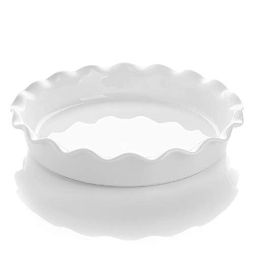 Porcelain Pie Pan 10.5 Inches