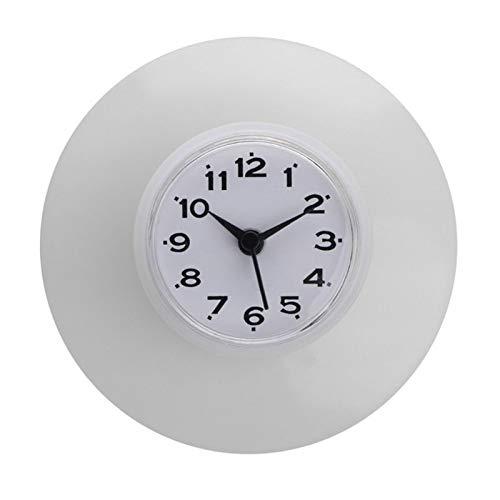 ETSK - Reloj de pared de silicona con ventosa para baño, cocina,...