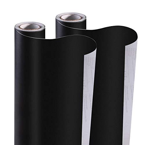 Kesote 2 Rollos de Pegatina Pizarra Negra Autoadhesiva Grande Pegatina de Pared para el Hogar, Escuela, Oficina, 42 x 200 CM
