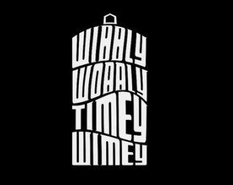 Dr. Who's Wibbly Wobbly Timey Wimey Tardis WHITE Vinyl Car/Laptop/Window/Wall Decal