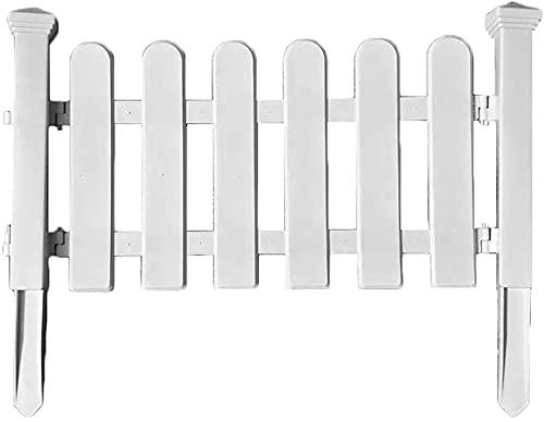 HSWYJJPFB Cañizo Jardin Ocultacion Jardin Decoracion Paneles Patio Flor Jardín Cama Piscina Blanco Plástico Jardín Cercas de piquete Guardia Protectora Borde Decoración Picket Fence 1906(Color:WH
