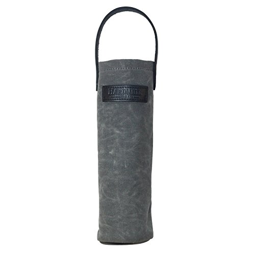 Wine Tote - Waxed Canvas - Charcoal - Made in USA