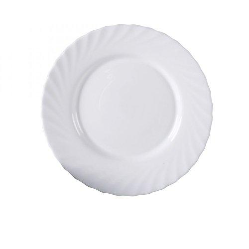 Luminarc Trianon - Plato llano 24.5 cm, blanco, 1 unidad