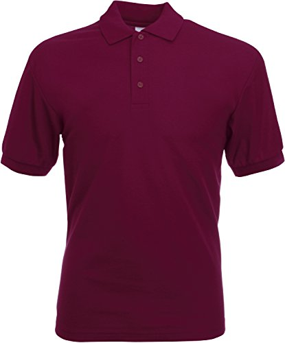 Polo-Shirt * 65/35 Polo * Fruit of the Loom Farbe burgund Größe S