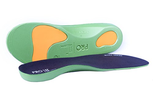 3 Pairs Pro11 Wellbeing Worx Series Orthotic Insoles for Plantar Fasciitis and Fallen Arches (7-8.5) Black