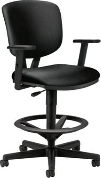 HON HON5705ASB11 伏特工作台加长高度脚垫可调节手臂黑色软线皮革椅背