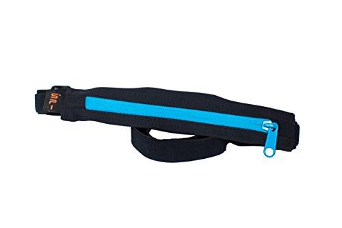Spibelt S Original pour Belt Water Resistant with Turquoise Zipper Sac de Course de Performance, Noir, XL