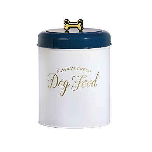 Amici Pet Maltese Metal Food Canister, 140oz