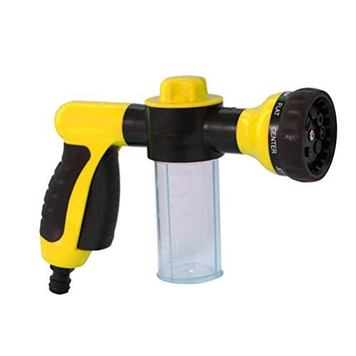 Garneck Schaum Blaster für Autowaschanlage Schaumkanone Kunststoff Gießkanne Autowaschzubehör Gartenbewässerung Werkzeuge Gelb