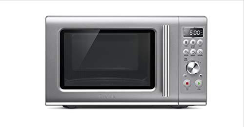 Breville BMO650SIL1BUC1 the Compact Wave Soft Close Countertop Microwave, Silver
