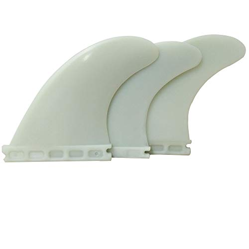 UPSURF Aletas de Tabla de Surf Plástico Surf Tablero Aletas Estilo Thruster Set (Fut White G5)