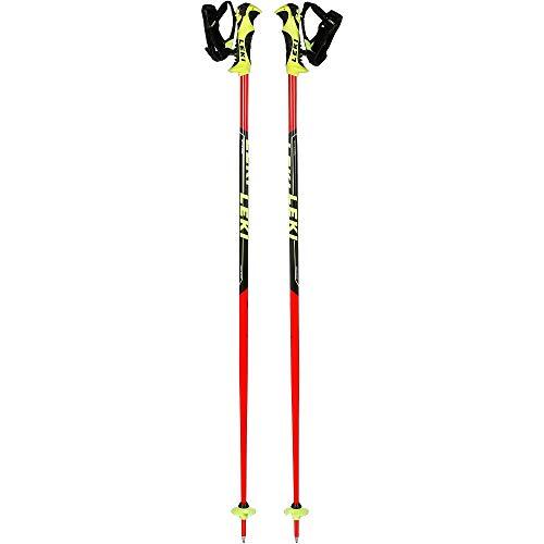 LEKI Kinder Worldcup Lite SL Skistöcke, Neonrot/Schwarz/Weiß/Neongelb, 110 cm