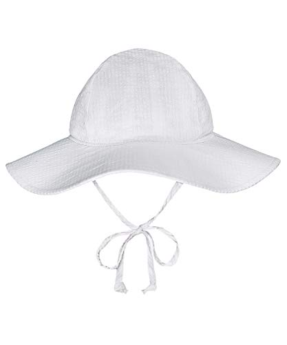BELLEBEAUTIE Baby Floppy Wide Brim Sun Hat Breathable Cotton Seersucker UPF 50 Protective UV Ray for Kids Protection