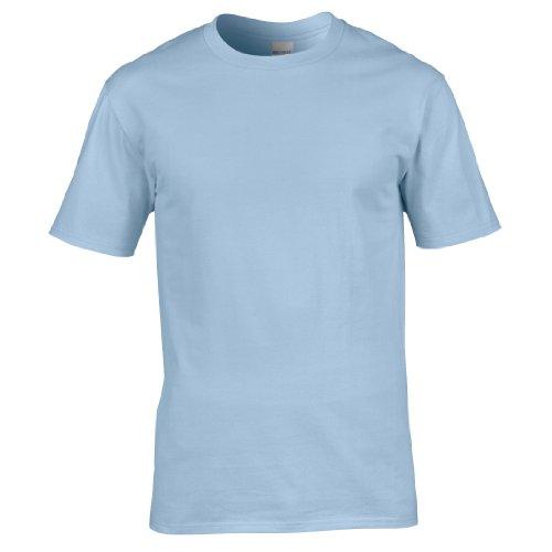 Gildan Premium T-Shirt für Männer (M) (Hellblau) M,Hellblau