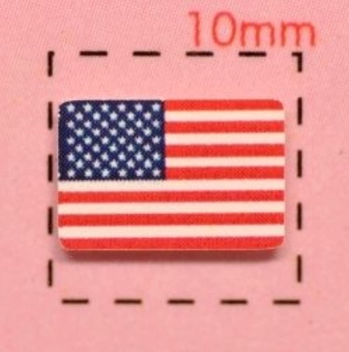 わずかな資金建築【アメリカ国旗ネイルシール】星条旗/1シート12枚入