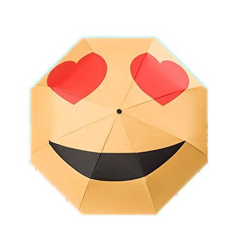 Y-S Taschenschirme Sonnenschirm Sonnenschirm Gesichtsmuster Sonnenschutz Uv Protection Kreativität Cartoon Regenschirm a, d