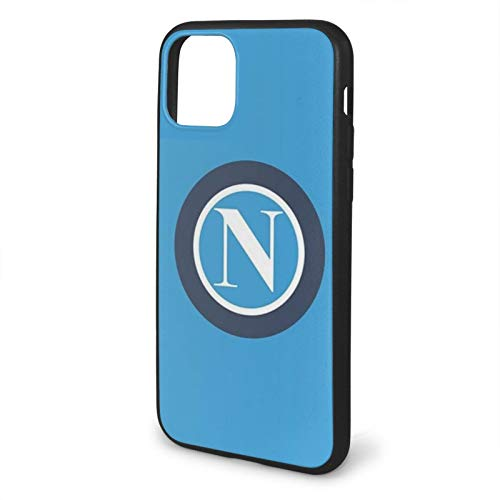 Fashion888 S S C Napoli T Shirt Compatibile per iPhone 11 12 PRO Max XR XS Max 6/7/8 Plus SE 2020 Custodia Nera per Telefono Custodia per Cellulare