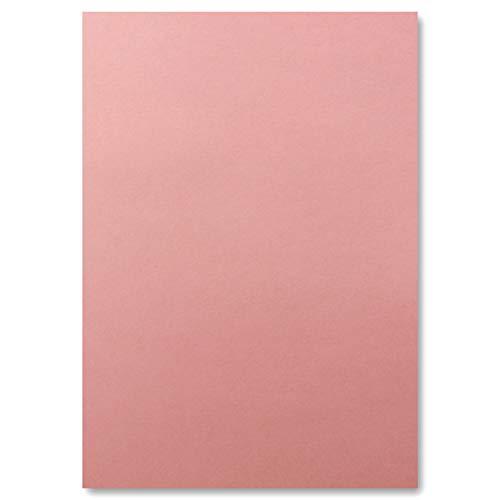 50 DIN A4 Papier-bögen Planobogen -Altrosa - 240 g/m² - 21 x 29,7 cm - Bastelbogen Ton-Papier Fotokarton Bastel-Papier Ton-Karton - FarbenFroh