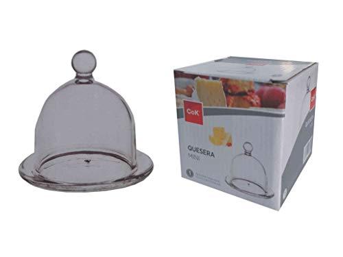Cok GB1K12 Quesera - Mini Tabla de Queso con Cascabel, 30 x 9,6 x 30 cm