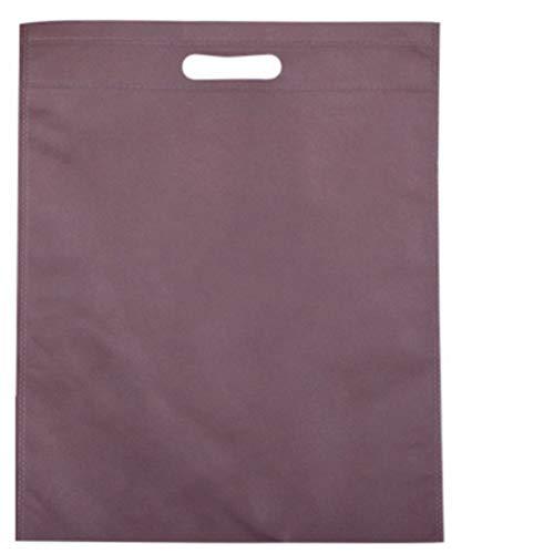 Umweltfreundliche einfarbige Aufbewahrungstaschen, Handtasche, faltbar, wiederverwendbar, Nylon, Einkaufstasche, Großhandel, Kaffee, 25 x 35 cm