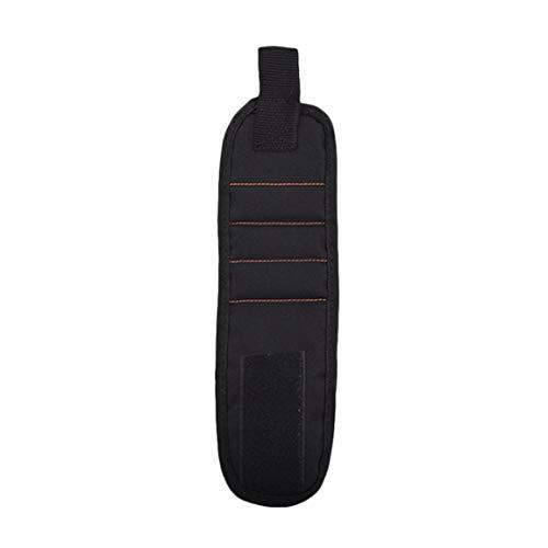 Kit de pulsera magnética magnética de tres filas 2 piezas incorporadas Imanes súper potentes Imanes fuertes para sujetar 1 pieza - Negro