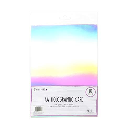Dovecraft Essentials-Tarjeta holográfica (tamaño A4), Multicolor, Talla Única