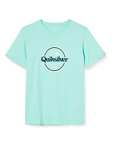 Quiksilver Jungen Screen Tee Words Remain - T-Shirt für Jungen 8-16, Beach Glass, XS/8, EQBZT04142