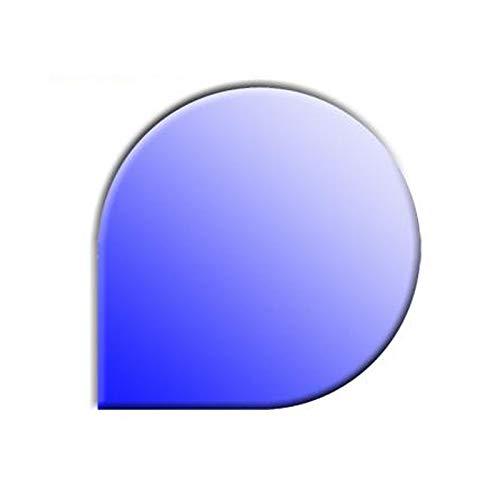 Glasbodenplatte für Kaminöfen Tropfenform 1100x1100 8mm