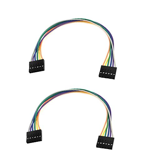 New Lon0167 2pcs 6-pin Destacados hembra a conector eficacia confiable hembra conector Cable Cable flexible 20cm(id:781 70 b5 cdd)