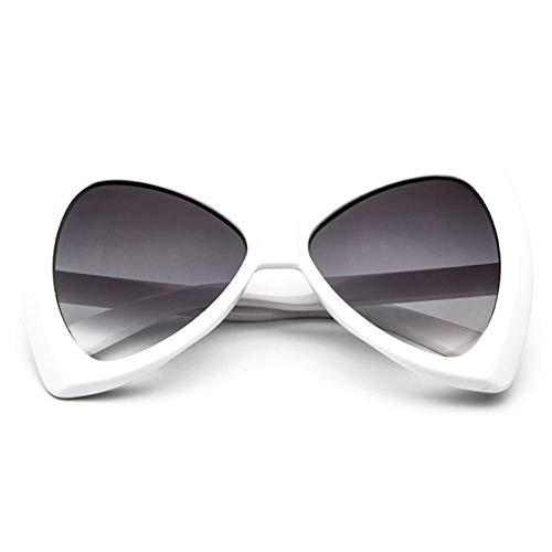 ZZOW Gafas De Sol De Moda con Forma De Arco De Gran Tamaño para Mujer, Gafas De Sol con Gradiente Vintage De Diseñador De Marca, Gafas De Sol De Ojo De Gato para Mujer Uv400